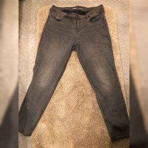 Old Navy Rockstar Jeans | Gray | Mid- Rise